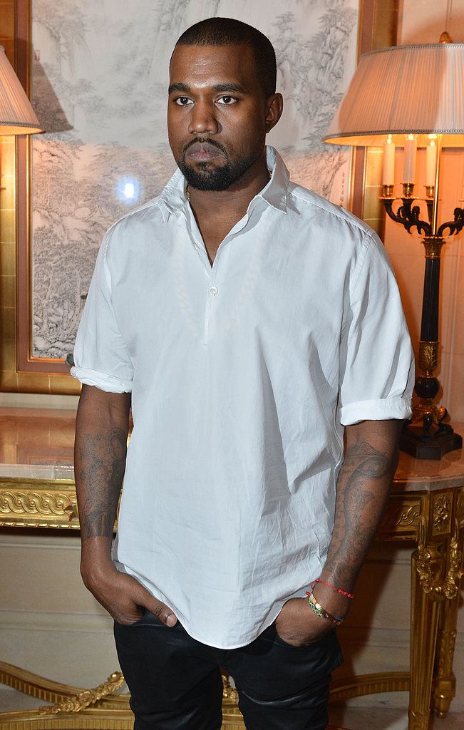 Kanye West kept it casual with a white polo for the CR Fashion Book Issue 2 launch party on Tuesday in Paris.