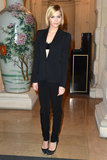 Leigh Lezark wore an all-black ensemble to the CR Fashion Book Issue 2 launch party on Tuesday.