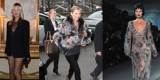 Kate Moss Shows Off Her Supermodel Style at Paris Fashion Week
