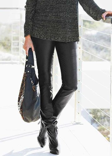 Leather Look Jeans
