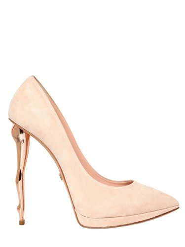 Dukas - 130mm Suede Doll Heel Pumps