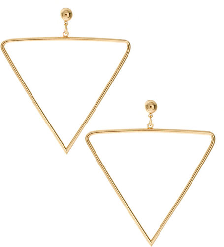 ASOS Open Triangle Drop Earrings