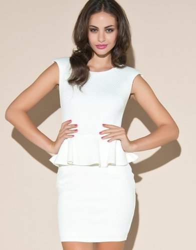 Lipsy Cut Out Bust Peplum Dress