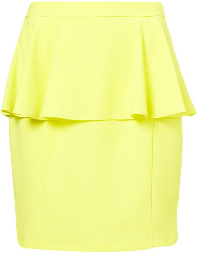 Textured Peplum Skirt