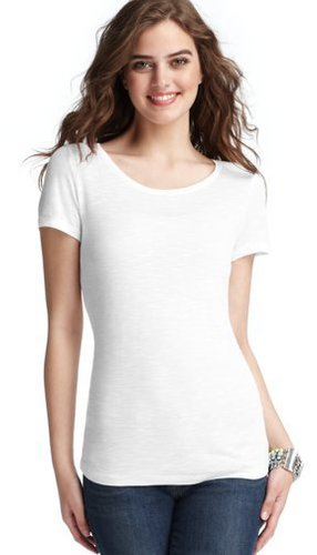 Petite Slubbed Scoop Neck Tee