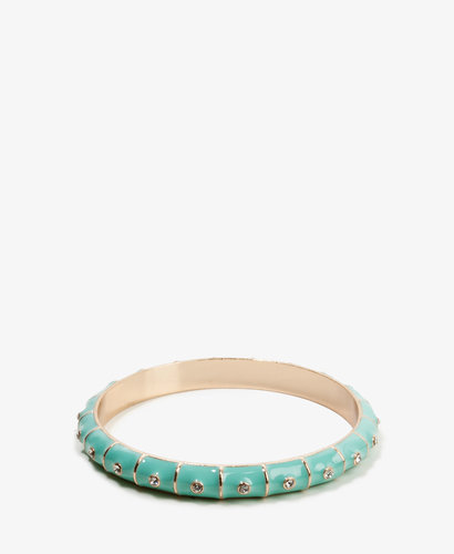 FOREVER 21 Lacquered Rhinestone Bangle