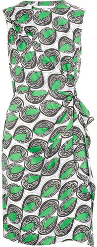 Diane von Furstenberg Talba printed silk dress