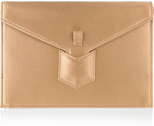 Yves Saint Laurent Y satin envelope clutch