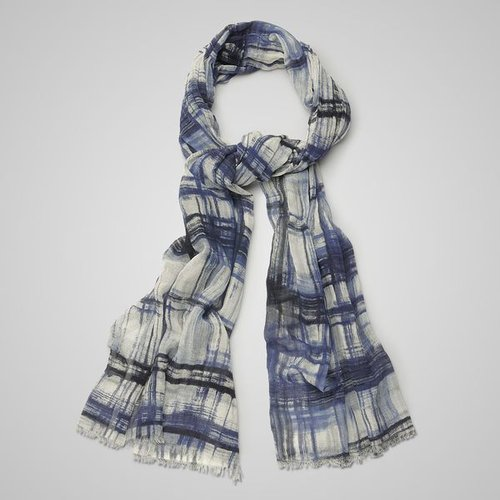 Midnight blue cotton scarf