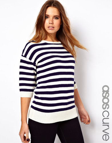 ASOS CURVE Exclusive Sweater In Stripe