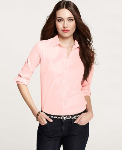 Petite Perfect Long Sleeve Button Down Shirt