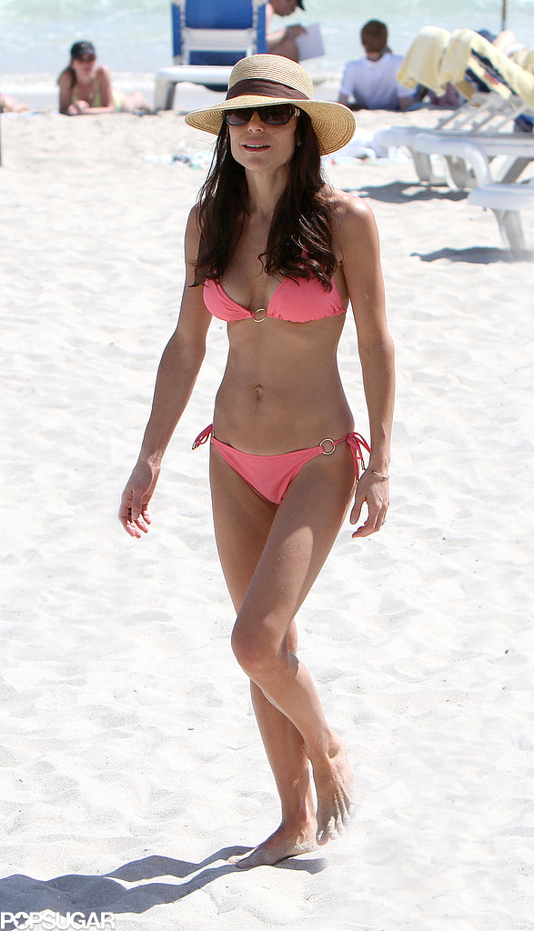 Bethenny Frankel put on a pink suit in Miami in February 2011.
