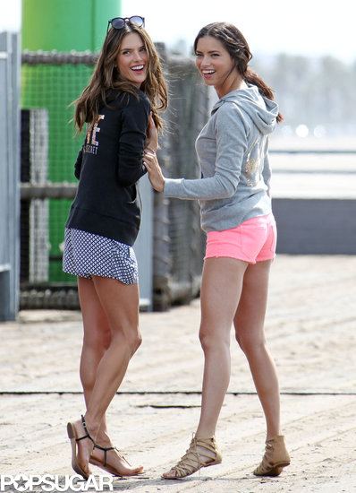 Alessandra Ambrosio and Adriana Lima shot a Victoria's Secret campaign in LA.