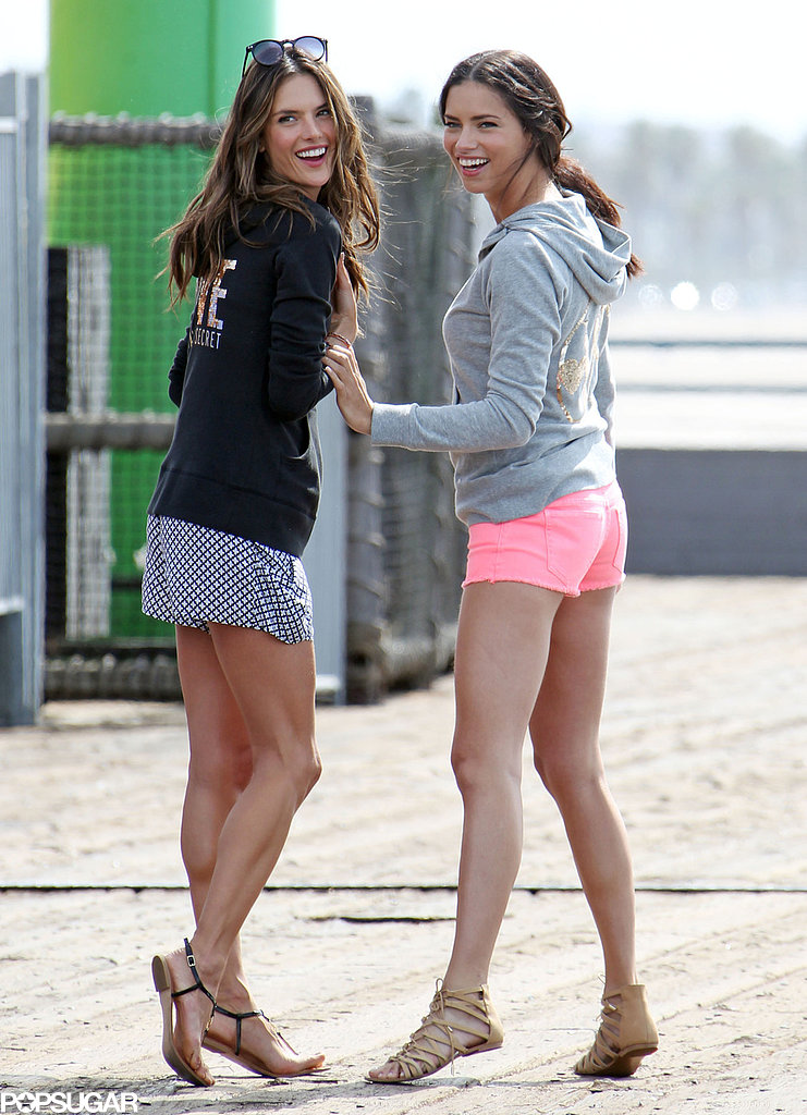 Alessandra Ambrosio and Adriana Lima shot a Victo