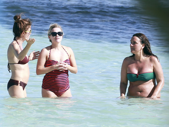 Reese Witherspoon hit the beach with friends during a girls' trip in Tulum, Mexico.