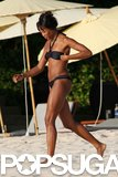 Naomi Campbell spent her Thailand escape in February 2011 on the beach.