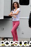 Miranda Kerr Goes Casual Filming a New Ad