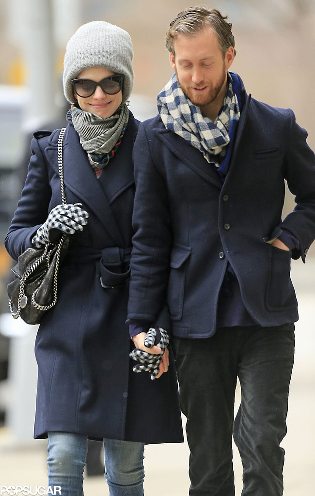 Anne Hathaway and Adam Shulman were hand in hand in NYC on Thursday.