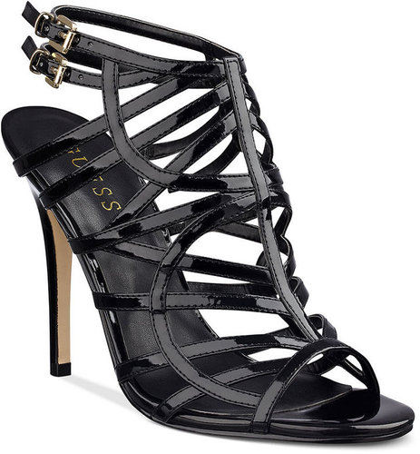 GUESS Women's Shoes, Harlen Strappy Evening Sandals