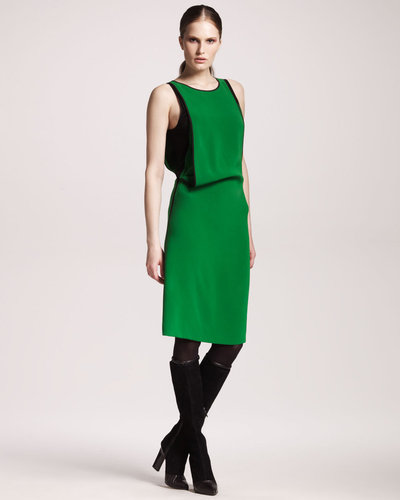 Reed Krakoff Compact Silk Draped Dress