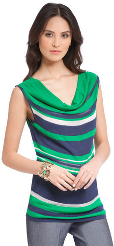 Color Block Drape Neck Top