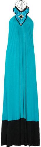 T-Bags Embellished stretch-jersey maxi dress