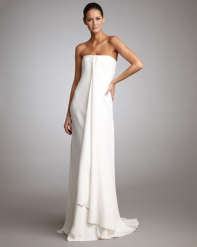 Ralph Lauren Black Label Strapless Draped Gown