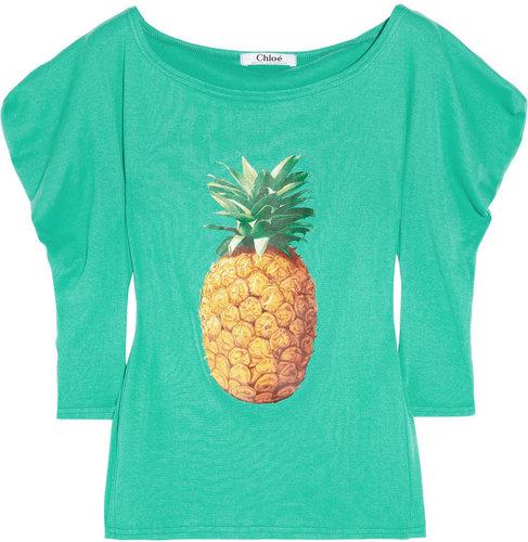 Chloé Ananas printed cotton T-shirt