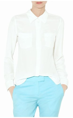 Kianna Silk Button-Down Shirt