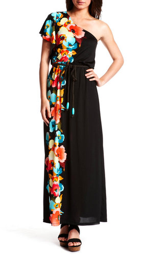 Botanical One-Shoulder Maxi Dress