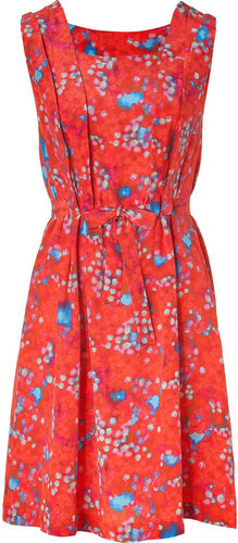 Cacharel Red Printed Silk Dress
