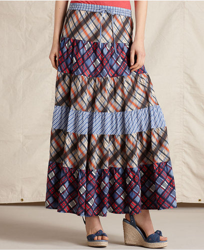 Tommy Hilfiger Skirt, Patchwork Pull On Maxi