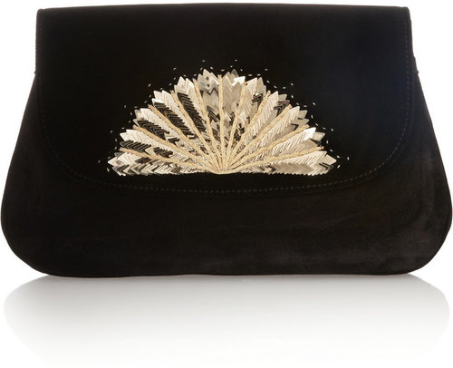 Chlo The ventail suede clutch