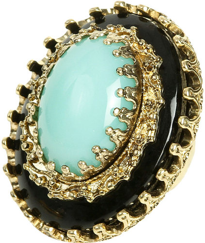 Embellished Two Stone Ring