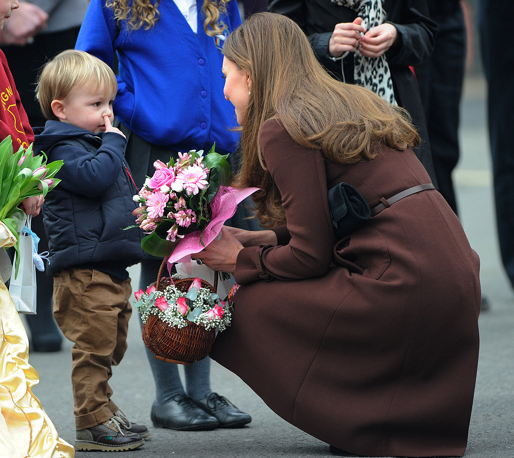 Boy Picks Booger While Meeting Kate Middleton