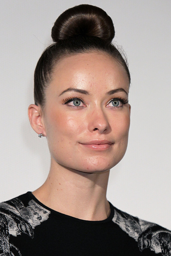 In 2010, Olivia opted for a futuristic topknot for her appearance in Tokyo to promote Tron.