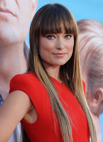 At The Change-Up premiere in 2011, Olivia sported blunt brow-kissing bangs with superlong ombré tips.