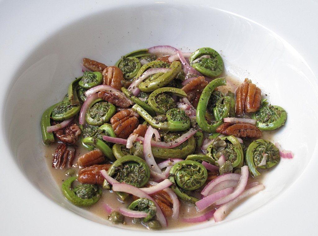 What to Make: Warm Fiddlehead Salad With Cognac Vinaigrette
