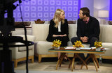 Emma Stone and Ryan Reynolds chatted on a couch while on the Today show in NYC on Friday.