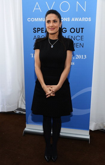 Salma Hayek came out to show her support in NYC.