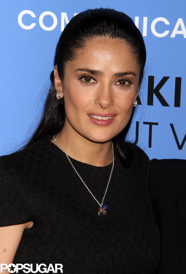 Salma Hayek kept her ensemble simple and classic.