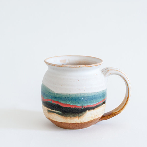 """I'm not exactly sure how it all started, but I've begun collecting the occasional handmade mug, which has elevated my morning tea ritual in an unexpected way. This number at Mociun ($28) in Williamsburg recently caught my eye."""
