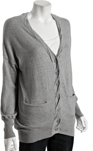 BCBGeneration black cotton blend oversized cardigan sweater