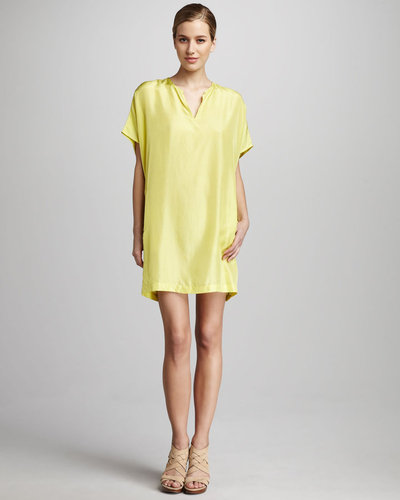 KAS New York Fifi Silk Shift Dress