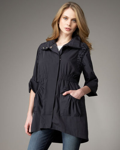 Ali Ro Three-Quarter Ruched Anorak