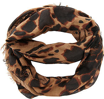 Leopard panel snood