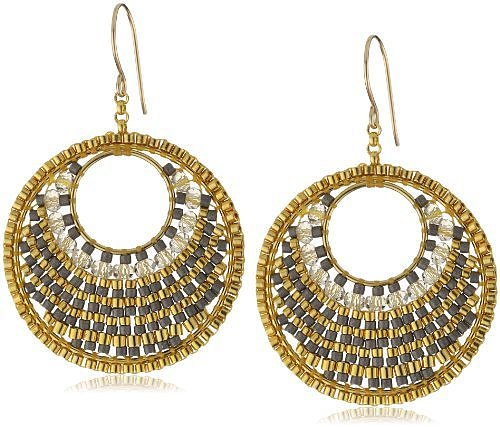 Miguel Ases Multi-Metallic Bead 14k Gold Filled Centric Earrings