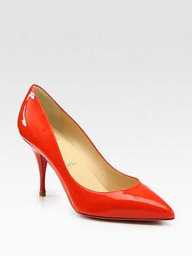 Christian Louboutin Piou Piou Patent Leather Point Toe Pumps