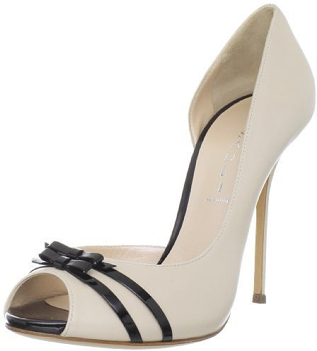 Casadei Women's 8064 Leather Peeptoe D'Orsay