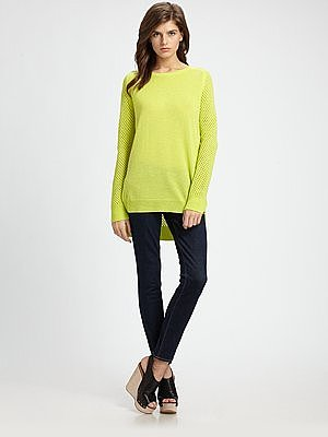 Alesky Semi-Sheer Wool Sweater